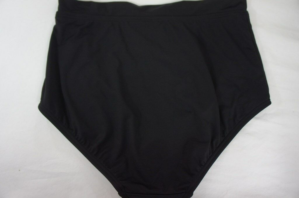 Coco Reef Bikini Bottom Sz S Cast Black High Waist Swimwear Swim Bottoms U56939