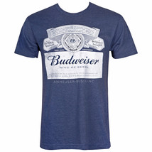 Budweiser Label Midnight Navy Tee Shirt Blue - $29.98+