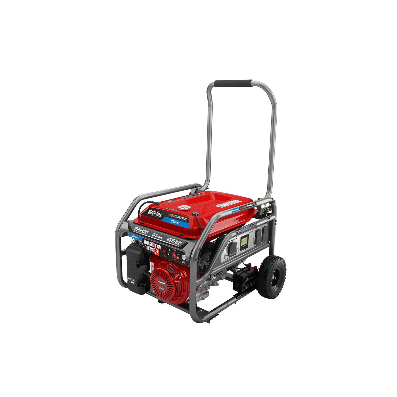 Black Max 7500W - 9375W Honda Powered Electric Start Bluetooth Generator