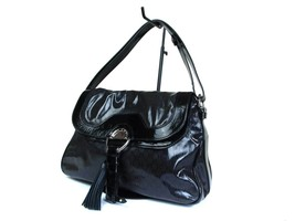 Authentic CELINE MACADAM PVC Canvas Black Shoulder Bag CS16127L - $239.00