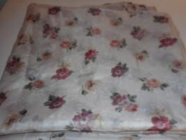 Vintage  J. C. Penney sheer Floral swag curtain  - $29.69
