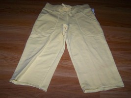 Girls Size 5 The Children's Place Solid Yellow Capri Cropped Lounge Pants New - $14.00