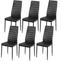 Set of 2 or 6 High Back Dining Chairs-Set of 6 - Size: Set of 6 - $267.42