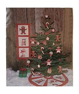 Visions of Sugar Plums Pattern Applique Soft Sculpture Tree Skirt Holida... - $4.99