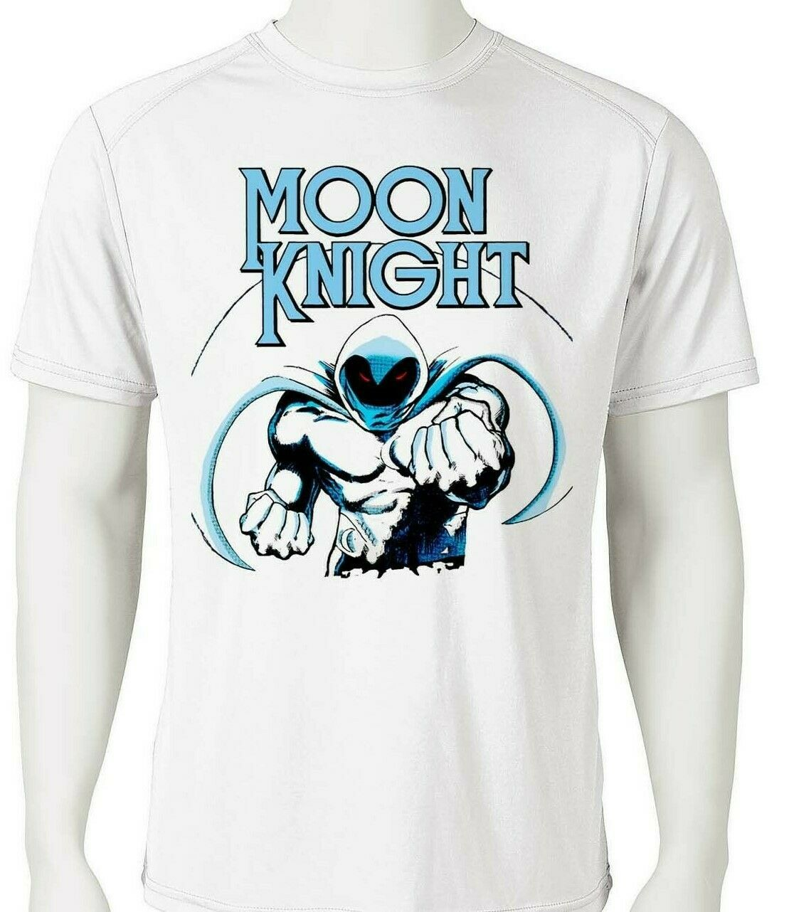 Moon Knight Dri Fit graphic T-shirt moisture wicking retro superhero SPF tee