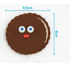 Brunch Brother popped Eye Handheld Mirror Makeup Hand Mirror (Choco Pompom) image 6