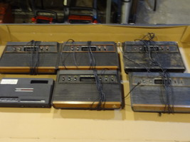 VINTAGE ATARI CONSOLE LOT AS IS NOT WORKING  2 TURN ON WON'T READ DARTH ... - $149.99