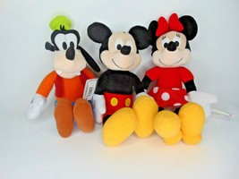 "16"" Mickey Mouse, Minnie, Goofy Plush new with tags                     ... - $29.69"