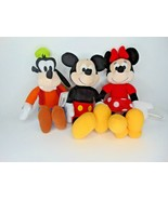 """16"""" Mickey Mouse, Minnie, Goofy Plush new with tags                     ... - $29.69"""