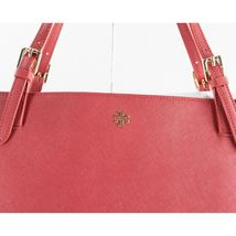 Tory Burch Robinson Kir Royal Red Saffiano Leather York Buckle Tote Bag NWT image 4