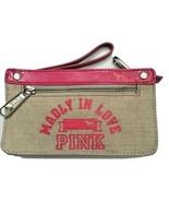 hVictorias Secret PINK Summer Straw Zip Up Wallet Clutch - $89.99