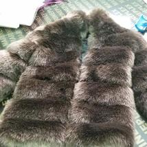 Women's Winter Luxury Fashion Faux Fur Shaggy Thicken Warm Coat image 2
