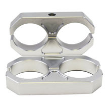 Universal Chevy GMC Ford Billet T6 Aluminum Coilover Reservoir Brackets, Silver image 3