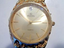 Vintage ELGIN Men's Gold Plated Quartz Watch - EXCELLENT - $54.88