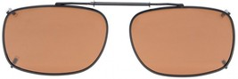 Eyekepper Metal Frame Rim Polarized Lens Clip On Sunglasses 2 1/8'x1 7/1... - $31.40