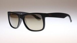 Ray Ban Justin Men's Sunglasses RB4165 622/5A Black/Gold Lens Square Authentic - $96.03