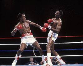 Thomas Hearns Sugar Ray Leonard IAS Vintage 11X14 Color Boxing Memolrabilia Phot - $14.95