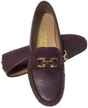 Salvatore Ferragamo Lizard Loafers Purple Size 7.5 - $233.89