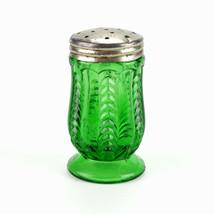 US Glass Florida Green Salt Pepper Shaker, Antique EAPG 1898 Paneled Her... - $147.00
