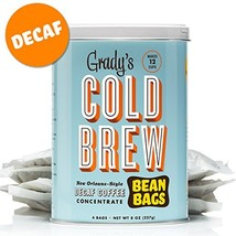 Grady's Cold Brew Iced Decaf Coffee Bean Bags Decaf, 2 Can - $29.51