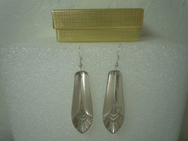 International Manhattan 1951 Earrings Silverplate - $31.18