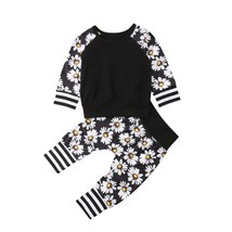 2Pcs Toddler Baby Clothes Infant Kid Baby Boys Girl Sunflower T shirt Pu... - $10.39