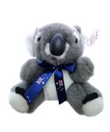 "Small Koala Bear Plush Australian Flag Tie Oz Mate 6"" - $26.59"