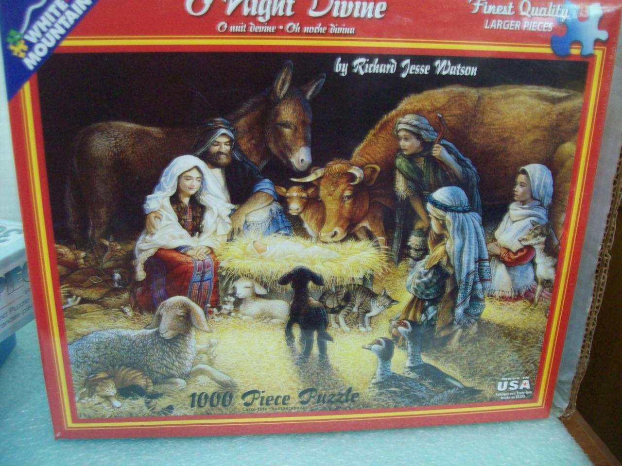 New O NIGHT DIVINE Jigsaw Puzzle 1000 Pc White Mountain Puzzles Sealed In Box