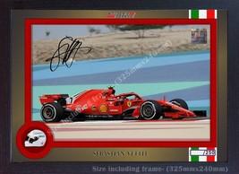Sebastian Vettel Ferrari signed autograph photo poster print Framed 32cm... - $19.27