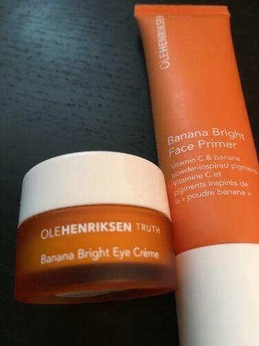 New Unboxed Ole Henriksen 7mL Banana Bright Eye Creme & 30mL Face Primer