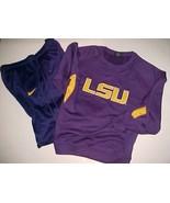 LSU Tigers Football NCAA SEC Nike Colosseum Adult Purple Pants Fleece Lo... - $49.49
