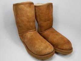 UGG Classic Short Sheepskin Chestnut Boots Size 8 M (B) EU 39 Brown Model 5825