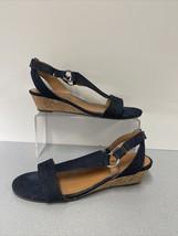 Womens A2 Aerosoles Heelrest Wedge Sandals Denim Size 8.5 - $15.15