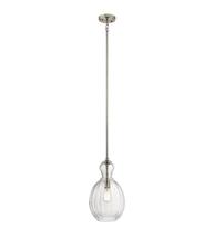 Kichler Lighting 43953NI Pendants Brushed Nickel Glass Riiera - $184.99