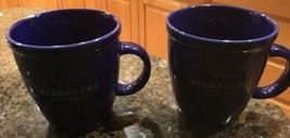 Starbucks Blue Barista Abbey Coffee Mug 16 Oz 2001  & 2002 Cobalt Blue T... - $48.15