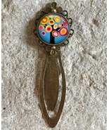 Kandinsky Tree Collage Art Glass Dome Round Cabochon Flower Bookmark Gif... - $9.99