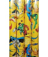 JUSTICE LEAGUE THEME GIFT WRAPPING PAPER 20 sq ft.(1 Roll) - $19.75