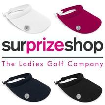 Nuovo 2021 Surprizeshop Donna Ampio Bordato Visiera da Golf - Rosa Blu S... - $25.80