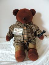 "North American Bear Company Bearlock Holmes VIB 20"" Brown Plush Bear 1979 - $69.99"