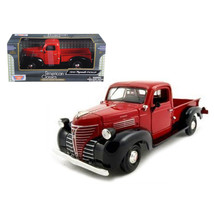 1941 Plymouth Pickup Red 1/24 Diecast Model Car by Motormax 73278AC/R - $29.91
