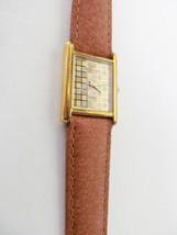 Raymond Weil 18K Gold Electroplated Checkerboard Face Quartz Watch-#5766 Vtg '80 - $394.82