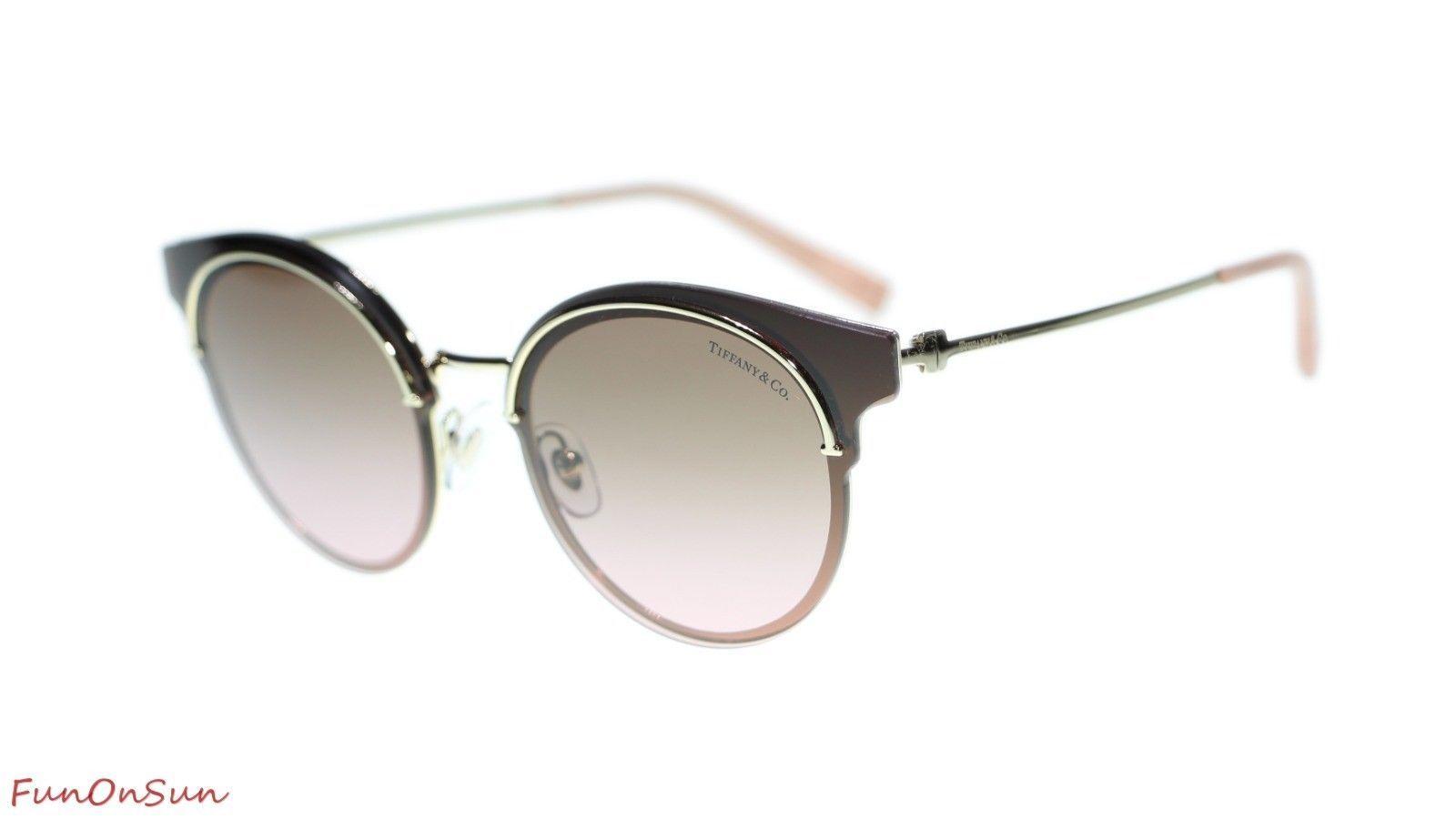 11678d7f05 10. 10. TIFFANY CO Women Sunglasses TF3061 6131F5 Gold Violet Gradient Brown  ...