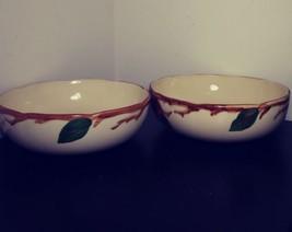 """2 Franciscan Apple Pattern Vegetable / Salad Serving Bowl 8 1/4"""" Wide - $39.99"""