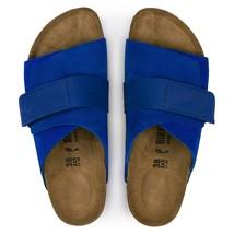 Birkenstock Kyoto Ultra Blue Womens Suede Straps Narrow Fashion Sandals 1015575 - $149.99