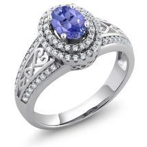 1.31 Ct Oval Natural Blue Tanzanite Gemstone Birthstone 925 Sterling Sil... - $89.98