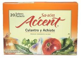 Sa-son Accent Culantro y Archiote Premium Condimento Calidad 20 Sobres/Packets - $7.91
