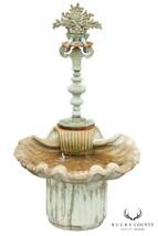 Italian Renaissance Style Cast Stone & Bronze Garden Fountain - $1,995.00