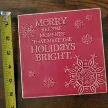 Christmas Trivet, Hallmark decorative tile, red, Merry Moments Holidays Bright image 4