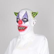 Full Face Scary Clown Latex Mask Black Hair Halloween Party Horror Masqu... - $36.74 CAD
