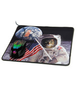 ENHANCE Cat Gaming Mouse Pad with Patriotic Cat Astronaut Experiencing E... - $12.99